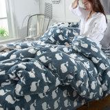 Blatt-gesetzte 100%Cotton gedruckte Bettwäsche-Familien-Bettwäsche des Flanell-4PCS