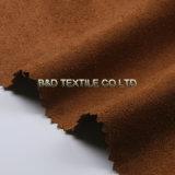 Tessuto 100% della pelle scamosciata del poliestere del filo di ordito della pelle scamosciata per gli indumenti