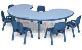 Coloridos Muebles de niños de 8 plazas escritorio y silla de madera para niños