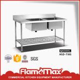 Preiswerter Edelstahl-montierender Wannen-Tisch (HSS-66)
