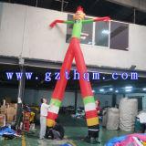 Le danseur gonflable d'air de danseur d'air de clown/tissu d'Oxford