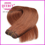 Cor de cabelo castanho escuro cabelos lisos peruano de tafetá 100% de cabelo humano
