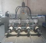 Eixo 4 Multi-Heads Engravador CNC para trabalhar madeira com o botão rotativo para tornar as pernas, do molde