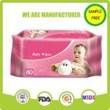 Wipe нового материального мягкого младенца внимательности кожи влажный с крышкой