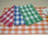 (BC-KT1013) Toalha de cozinha do projeto da forma da grade da listra de toalha de limpeza