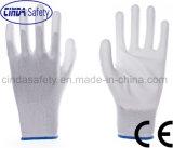 Gants de travail de sûreté (PU) enduits par paume sans joint de polyuréthane de doublure
