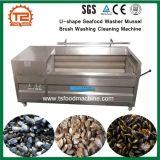 U-Shape de fruits de mer de moules de la rondelle de machine de nettoyage de lavage de brosse