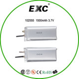 102555 China Ultra Thin Lithium Polymer Battery 3.7V 1400mAh für Laptop