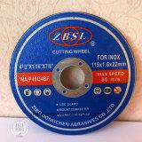 ステンレス製の鋼鉄115X1.6X22.2のための切断ディスク