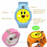 La montre de traqueur des gosses la plus neuve GPS avec la fonction de SOS (D14)