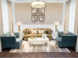 Ganascia blu elegante del sofà del fabbricato/sofà di cuoio di Champagne