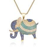 فيل مدلّاة نمو مجوهرات زيّ بلورة عقد