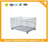 Recipiente Foldable do engranzamento de fio do equipamento do armazenamento do metal