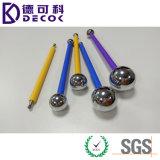Голубой цветок шарика металла ручки нержавеющей стали & резины моделируя инструмент Fondant шарика металла Sugarcraft