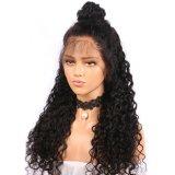 150% плотность Джерри вьющихся волос человека спереди кружевом парики с ребенком волос
