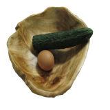 基本的な骨董品によって切り分けられる楕円形の木の節玉ボール