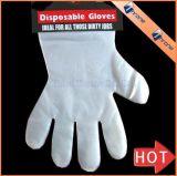 ハングの穴と使い捨て可能なCPE/HDPE/LDPE/PEの手袋