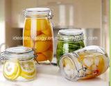 El envasado de alimentos las tapas de frascos de vidrio con Clip.