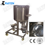 Aço inoxidável sanitárias tanque homogeneizador de vácuo de cisalhamento elevadas emulsionante