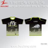 De T-shirts van de Hogere Jongen van de Sublimatie van het Toestel van de Kleding van de Sporten van de Fabriek van China van Healong voor Verkoop