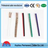 cable paralelo transparente del cable, del amarillo, rojo y negro del altavoz 1.5mm2, alambre eléctrico flexible