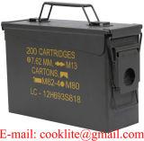 Cofre Porta Munição / Caixa Metálica Militar para Munição - M19A1 30 Cal