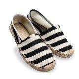 Beiläufiger Unisexschuhebrown-Müßiggänger-Qualitäts-Segeltuch-Schuh modisch