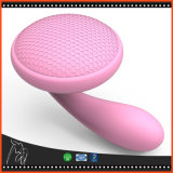 Balai de nettoyage rose foncé de face de beauté de silicones d'outil facial de lavage