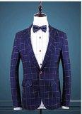 カスタム人は適当なスーツ/小切手メンズオーダーメイドのスーツ/あつらえのスーツを細くする
