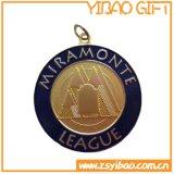 Высокое качество старинной латуни сувенир медаль с лентой (YB-m-027)