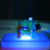 Muebles de Salón LED/bandeja de la botella de vino de plástico con LED y la batería