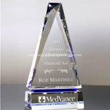 Venda quente Decoração Prêmio troféu de cristal de vidro com bola de golfe