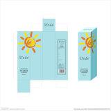 Caja de papel cosmética con relieve Logo