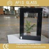Ficha preta de 6 mm /moldura branca Serigrafia fabricante de vidro temperado com norma RoHS