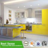 Cristal Guangzhou modular de aluminio del gabinete de cocina