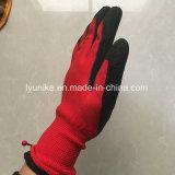 """13 Индикатор нейлон с покрытием """"мятым"""" эффектом гильзы Защитные перчатки"""