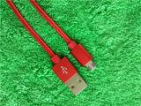 Кабель данным по Sync заряжателя USB Micro красного цвета алюминиевый для Andrews