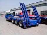 60 Gooseneck van de tri-As van de ton de Zware Hydraulische Lage Semi Aanhangwagen van de Vrachtwagen van het Bed