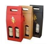 Rectángulo que lleva del vino fuerte del papel acanalado con la ventana