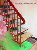 El interior de acero de titanio escaleras de madera