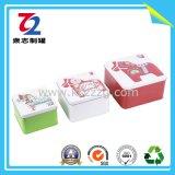Bidons carrés de fer blanc pour la nourriture/cadeau