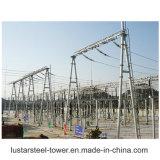 전기 공급 전력 변압기 변전소 관 강철 구조물 제작