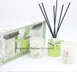 Aroma-Duftstoff-wesentliches Öl-REEDdiffuser (zerstäuber) mit duftender Kerze im Geschenk-Kasten