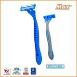 Triple acero inoxidable cuchilla de afeitar desechable (LV-3080)