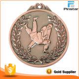 Медаль античной красной бронзы Wrestling резвится медали