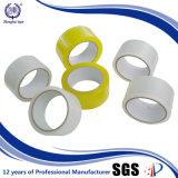 La producción en fábrica de cinta de caja de cartón clara