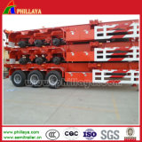3 de l'essieu 40-60ton 40FT- 20FT de camion de conteneur remorque squelettique semi