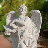 Bon prix sculpté à la main quatre Ange de la statue de marbre figure pour la décoration