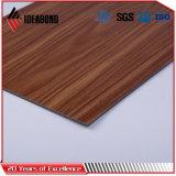 El panel compuesto de aluminio del poliester de madera de la mirada para el techo