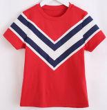 T-shirt da menina da marinha da listra da moda